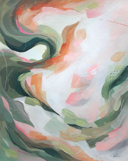 Autumn leaves, peinture contemporaine abstraite de Vanessa Lim