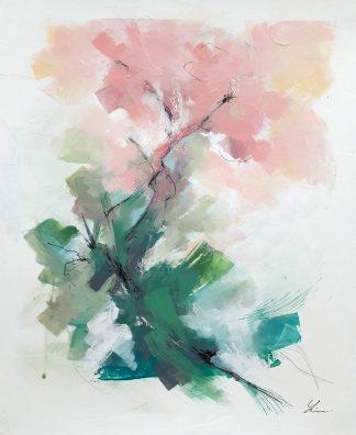 En automne, peinture contemporaine abstraite de Vanessa Lim