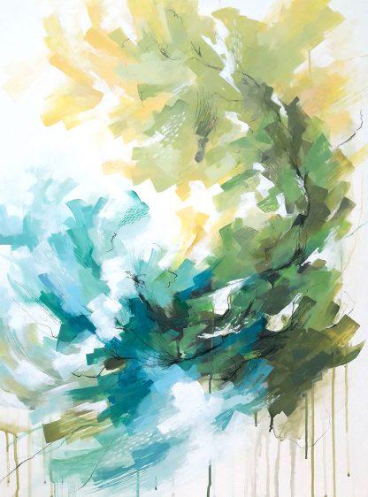 You learn, peinture contemporaine abstraite de Vanessa Lim