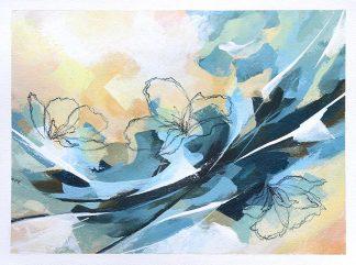 Quand je ferme les yeux, peinture contemporaine abstraite de Vanessa Lim