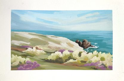 Pointe du Raz (gouache), de Vanessa Lim