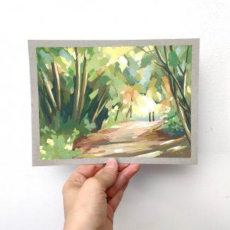 Suis la lumière, peinture à la gouache de Vanessa Lim